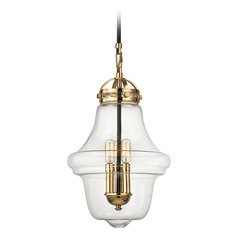 Elk Lighting Gramercy Polished Gold, Oil Rubbed Bronze Pendant Light with Urn Shade