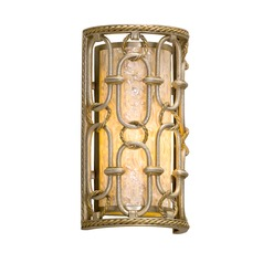 Corbett Lighting Sweet Talk Silver Leaf with Gold Leaf Accents Sconce
