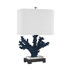 Dimond Cape Sable Navy Blue and Black Table Lamp with Rectangle Shade