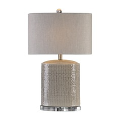 Uttermost Modica Taupe Ceramic Lamp
