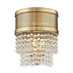 Hudson Valley Lighting Harrison Aged Brass Flushmount Light