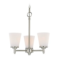 Eastland Satin Nickel Mini-Chandelier by Vaxcel Lighting