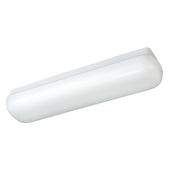 Modern Flushmount Light with White Acrylic in White Finish