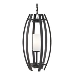 Small Bronze Cage Pendant Light