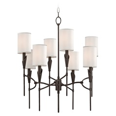 Mid-Century Modern Chandelier Bronze Tate by Hudson Valley Lighting