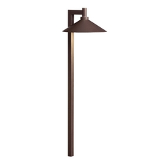 Kichler Modern LED Path Light in Bronzed Brass Finish