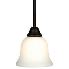 Dolan Designs Lighting Mini-Pendant with Satin White Glass 546-34