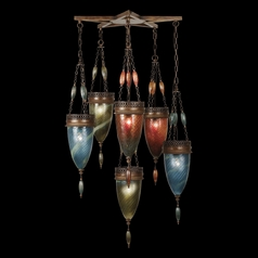 Fine Art Lamps Scheherazade Aged Dark Bronze Multi-Light Pendant