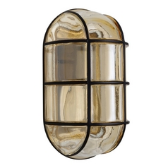 Outdoor Wall Light Grey Glass Black by Besa Lighting