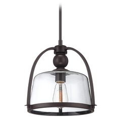Farmhouse Pendant Light Bronze Piccolo by Quoizel Lighting