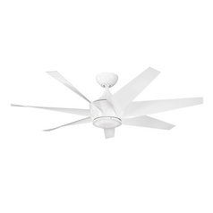 Kichler Lighting Lehr Ii White Ceiling Fan Without Light