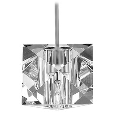 Wac Lighting Crystal Collection Brushed Nickel Mini-Pendant with Square Shade