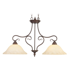 Livex Lighting Coronado Imperial Bronze Island Light with Bowl / Dome Shade