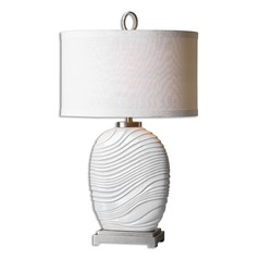 Uttermost Valleve Gloss White Table Lamp