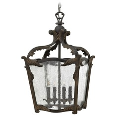 Hinkley Lighting Sorrento Aged Iron Pendant Light with Triangle Shade