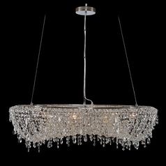Allegri Crystal Voltare Chrome Pendant Light