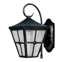 Maxim Lighting Outdoor Wall Light with Clear Glass in Country Forge Finish 30232CDCF