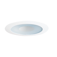 Juno Lighting Group Lensed Shower Trim for 4-Inch Recessed Cans 12W-WH