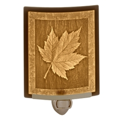 Porcelain Garden Lighting Maple Leaf Lithophane Night Light NR176