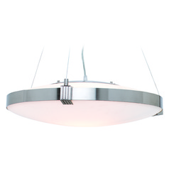 Access Lighting Luna Brushed Steel Pendant Light with Bowl / Dome Shade