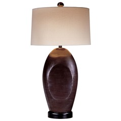 Minka Lavery Black Table Lamp with Drum Shade