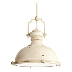 Farmhouse Pendant Light White by Quorum Lighting