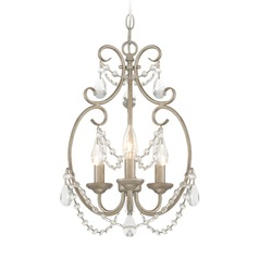 Designers Fountain Dahlia Aged Platinum Mini-Chandelier