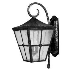 Maxim Lighting Outdoor Wall Light with Clear Glass in Country Forge Finish 30234CDCF