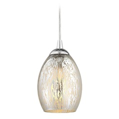 Design Classics Gala Fuse Chrome LED Mini-Pendant Light with Oblong Shade