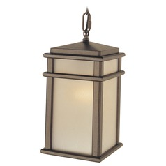 Feiss Lighting Mission Lodge Corinthian Bronze LED Outdoor Hanging Light