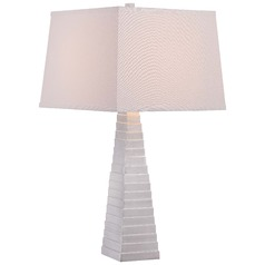 Minka Silver Leaf Table Lamp with Square Shade