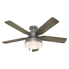 Hunter 52-Inch Matte Silver LED Ceiling Fan with Light