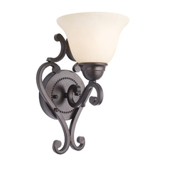Sconce Wall Light with Ivory Glass in Oil Rubbed Bronze Finish