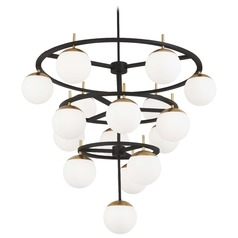 George Kovacs Alluria Weathered Black W/autumn Gold Chandelier
