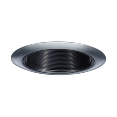 Juno Lighting Group Black Baffle with Satin Chrome Trim for 4-Inch Housings 14B-SC