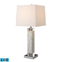 Dimond Lighting Mother Of Pearl LED Table Lamp with Square Shade