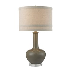 Dimond Lighting Grey Glaze Table Lamp with Drum Shade