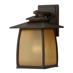 Feiss Lighting Wright House Sorrel Brown LED Outdoor Wall Light