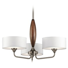 Mid-Century Modern Chandelier Pewter Lucille by Kichler Lighting