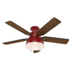 Hunter 52-Inch Barn Red LED Ceiling Fan with Light