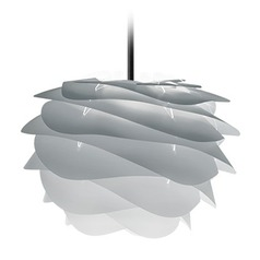 UMAGE Black Plug-In Swag Pendant Light with Abstract Shade