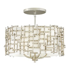 Hinkley Lighting Farrah Silver Leaf Semi-Flushmount Light