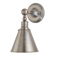 Modern Sconce Wall Light in Historic Nickel Finish