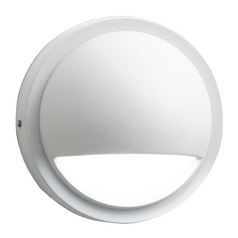 Modern LED Deck Light with White Glass in White Finish