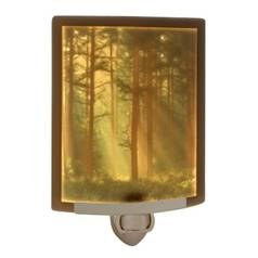 Woodland Sunbeams Colored Lithophane Night Light