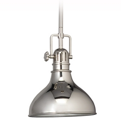 Kichler Nautical Mini-Pendant Light in Polished Nickel - 8-Inches Wide