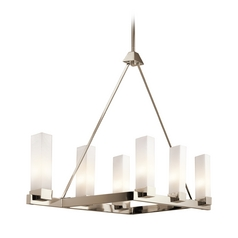 Kichler Lighting Savina Polished Nickel Island Light with Rectangle Shade