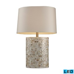 Dimond Lighting Mother Of Pearl LED Table Lamp with Oval Shade