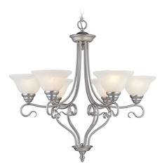 Livex Lighting Coronado Brushed Nickel Chandelier