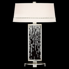 Fine Art Lamps Cascades Warm Silver Leaf Table Lamp with Empire Shade